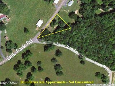 Rappahannock, Fauquier, Madison, Culpeper Residential Lots & Land For Sale: 1574 Oak Park Road