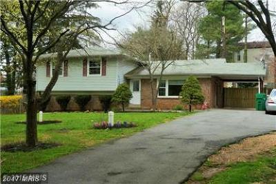 Derwood Single Family Home For Sale: 17504 Lisa Drive