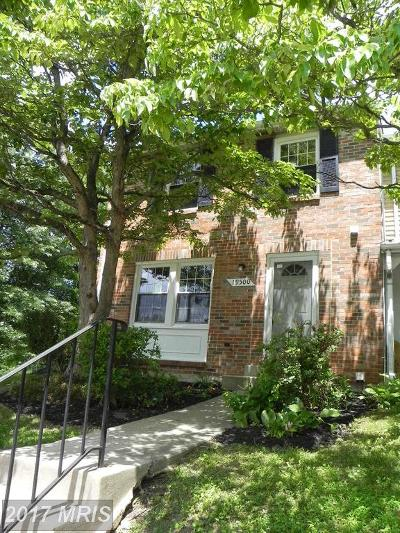 Gaithersburg MD Townhouse For Sale: $264,900