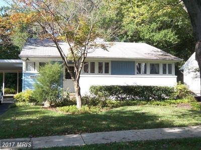 Bethesda Single Family Home For Sale: 9904 Parkwood Drive