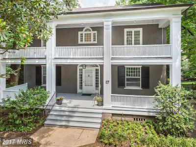 Chevy Chase Single Family Home For Sale: 17 Hesketh Street
