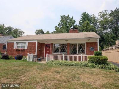 Kensington Single Family Home For Sale: 3701 Calvert Place