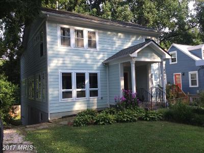 Takoma Park Single Family Home For Sale: 8409 Garland Avenue