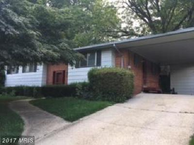 Silver Spring MD Single Family Home For Sale: $335,000