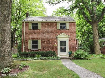 Takoma Park Single Family Home For Sale: 1107 Merwood Drive