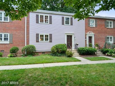 Chevy Chase Townhouse For Sale: 6622 Hillandale Road #60