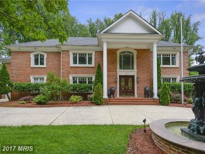 Bethesda Single Family Home For Sale: 9101 Burdette Road
