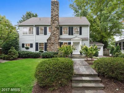 Chevy Chase Single Family Home For Sale: 30 Quincy Street
