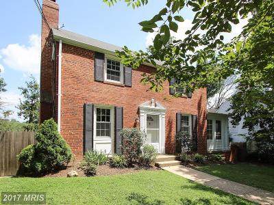 Takoma Park Single Family Home For Sale: 7307 Wildwood Drive