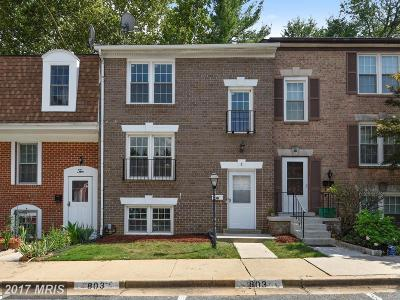 Gaithersburg Townhouse For Sale: 8 Hyacinth Court #4