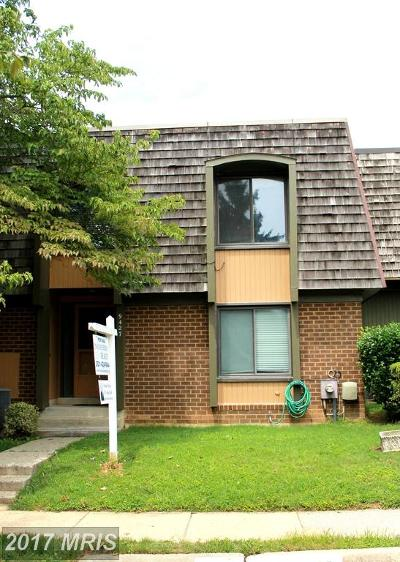 Montgomery Village Townhouse For Sale: 9427 Hickory View Place