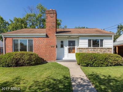 Takoma Park Single Family Home For Sale: 8106 Hammond Avenue