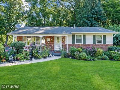Rockville Single Family Home For Sale: 4110 Landgreen Street