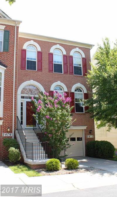 Brookeville Townhouse For Sale: 2417 Saint Albert Terrace