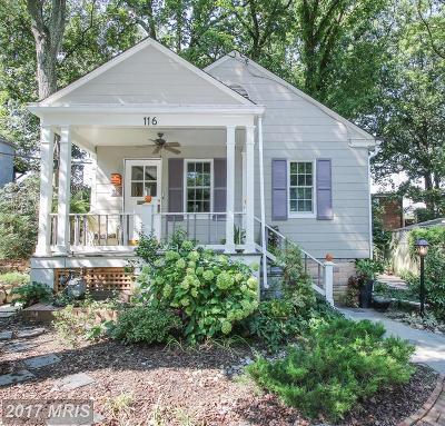 Takoma Park Single Family Home For Sale: 116 Sherman Avenue