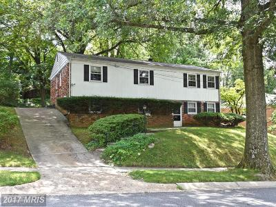 Chevy Chase Single Family Home For Sale: 8507 Freyman Drive