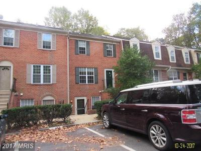 Silver Spring Townhouse For Sale: 3722 Ferrara Drive #6