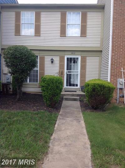 Burtonsville Townhouse For Sale: 3802 Stepping Stone Lane