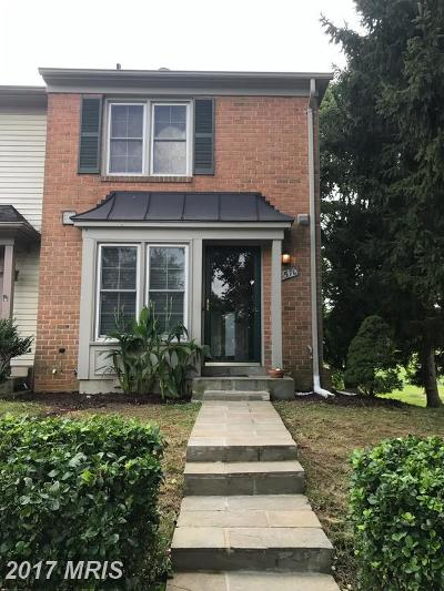Montgomery Village Townhouse For Sale: 8510 Hawk Run Terrace