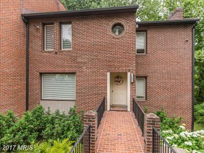 Bethesda Townhouse For Sale: 7501 Bradley Boulevard