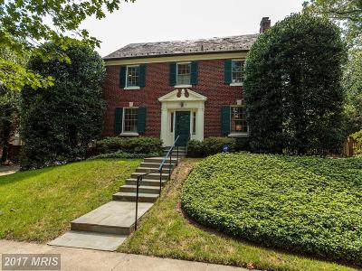 Chevy Chase Single Family Home For Sale: 7010 Beechwood Drive