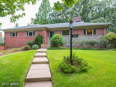 Bethesda Single Family Home For Sale: 5902 Osceola Road