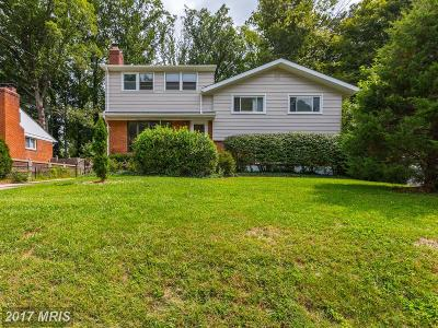 Bethesda Single Family Home For Sale: 9713 Holmhurst Road