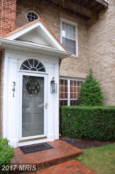 Rockville Townhouse For Sale: 341 Prettyman Drive #22