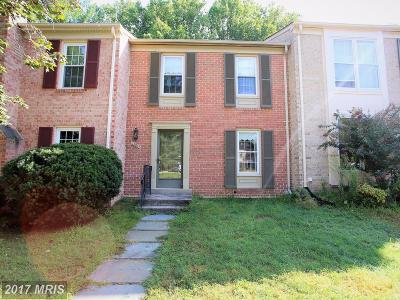 Gaithersburg Townhouse For Sale: 10059 Maple Leaf Drive