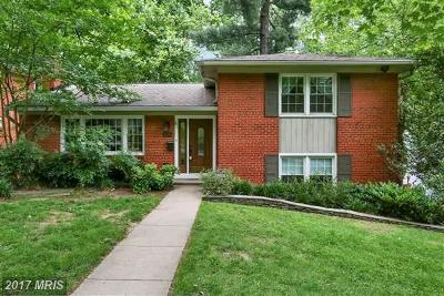 Chevy Chase Single Family Home For Sale: 3509 Glenmoor Drive