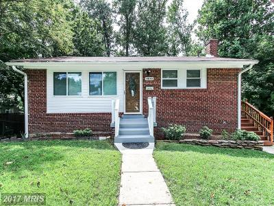 Silver Spring Single Family Home For Sale: 3306 Niles Street