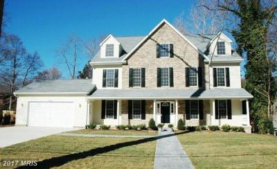 Bethesda Single Family Home For Sale: 6205 Winston Drive