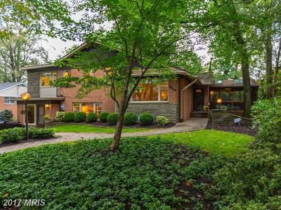Chevy Chase Single Family Home For Sale: 3214 Woodhollow Drive