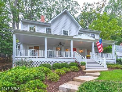 Bethesda Single Family Home For Sale: 6705 Barr Road