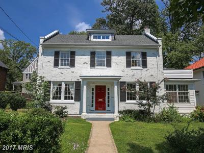 Chevy Chase Single Family Home For Sale: 4111 Rosemary Street
