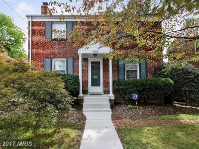 Bethesda Single Family Home For Sale: 4504 Chestnut Street