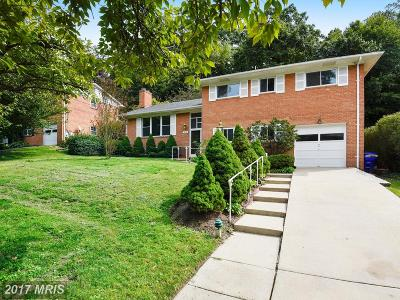 Chevy Chase Single Family Home For Sale: 5214 Oakland Road