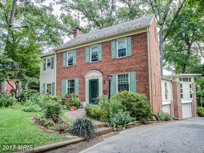 Silver Spring Single Family Home For Sale: 9223 Woodland Drive