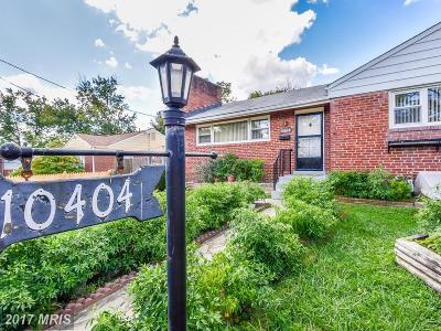Silver Spring Single Family Home For Sale: 10404 Brunswick Avenue