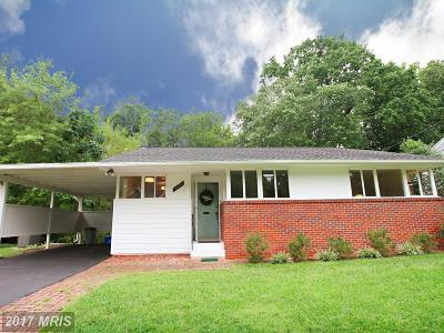 Bethesda Single Family Home For Sale: 9908 Parkwood Drive