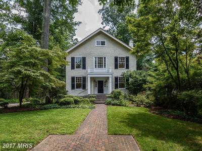 Chevy Chase Single Family Home For Sale: 26 W. Kirke Street