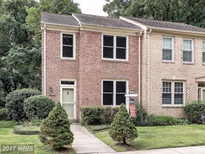 Rockville Townhouse For Sale: 10720 Pine Haven Terrace