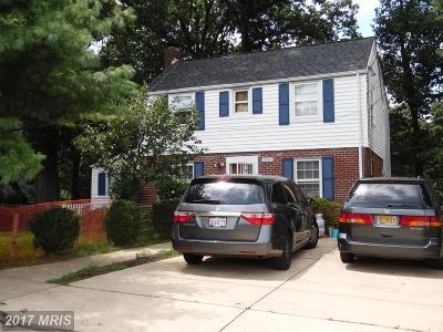 Takoma Park MD Single Family Home For Sale: $549,900