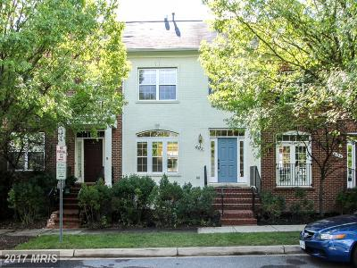 Rockville Townhouse For Sale: 602 Garden View Square