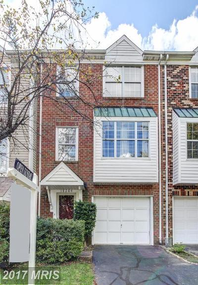 Brookeville, Olney Townhouse For Sale: 18204 Paladin Drive