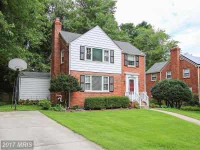 Silver Spring Single Family Home For Sale: 9502 Columbia Boulevard