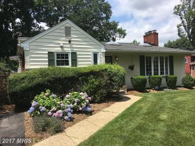 Bethesda Single Family Home For Sale: 7600 Hemlock Street