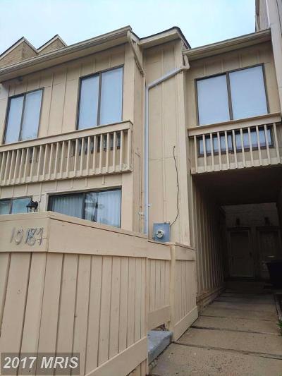 Gaithersburg Townhouse For Sale: 10185 Ridgeline Drive