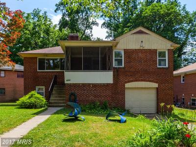 Silver Spring Single Family Home For Sale: 9502 Hale Place