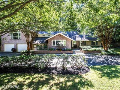 Bethesda Single Family Home For Sale: 7312 Burdette Court